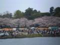2009年 岡崎公園/菅生川 右岸の さくらの したには 屋台が ずらり