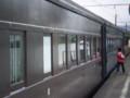 P5040092|金谷駅 11時 07分 発 SL急行|ひだりから 貨車、客車、客車
