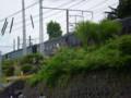P5040094|金谷駅 11時 07分 発 SL急行|平行する 道路から 撮影