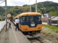 P5040099|金谷駅に 入線して きた 11時 31分 発 千頭いき電車