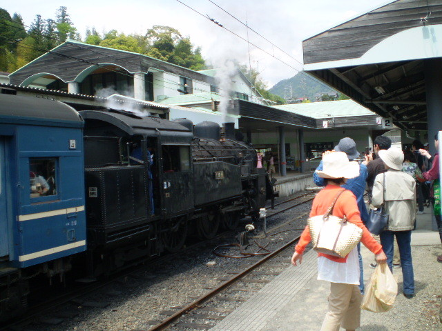 P5040125|千頭駅に 停車中の 蒸気機関車