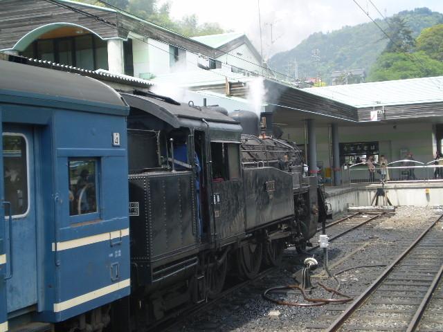 P5040126|千頭駅に 停車中の 蒸気機関車
