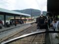 P5040131|千頭駅まで のって きた もと近鉄特急と 先行の SL急行
