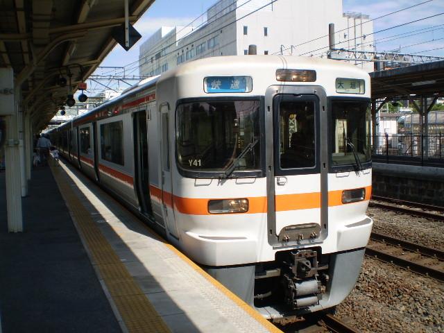 69 大垣駅に 到着した 快速電車