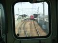 65|南安城で 対向電車と すれちがい