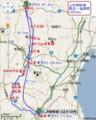 山形新幹線 路線図 (営業 キロ数)