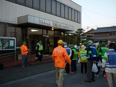 2010.4.24 二本木連合町内会 - 防犯パトロール出発式 (2)
