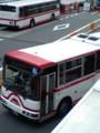 安城駅前バス停を でる 名鉄バス