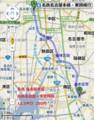 名鉄名古屋-本星崎 (もとほしざき)間 路線図
