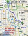 名鉄名古屋-桜間 路線図