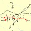仙台地下鉄 東西線 路線図