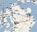 九州横断特急 路線図