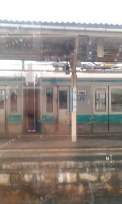110115 しらさぎ 車内から 04 敦賀駅 小浜線 ホーム