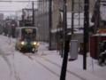 110115-25 花堂-赤十字前間で 対向 電車と すれちがい