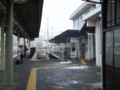 110120-07 明智鉄道 恵那駅の 線路と ホーム