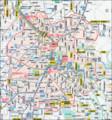 金沢市 中心部の 北陸鉄道 バス 路線図