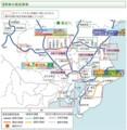 関東の 高速 道路 建設 状況 (2010年 11月 現在)