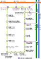 札幌市電 路線図 (札幌市 交通局)