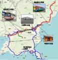 高知西南地域公共交通協議会の かかわる 鉄道と バスの 路線図