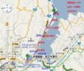 湖西線の 一部 山科-小野間の 路線図