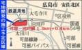 可部線 復活 区間 拡大図 (中国新聞)