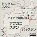 アフガニスタンの 地図 (アイナク 銅 鉱山)