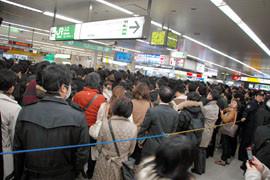 2011.3.15 松戸駅 (千葉日報)