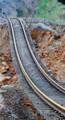 しずみこんだ 鹿島臨海鉄道の 線路 272-500 (あさひ)