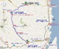 三陸鉄道 北リアス線 宮古 (みやこ)-小本 (おもと)間 路線図