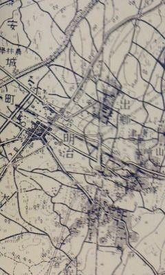 信参鉄道 予定 路線図 (安城駅 付近) 白図
