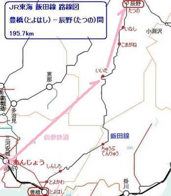 まぼろしの 信参鉄道 路線図