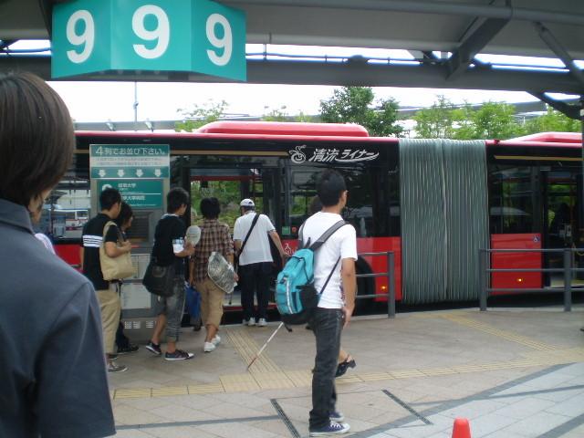 110623 46-10 岐阜 えきまえ 9番 バス停に 清流ライナー くる 03