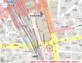 名鉄が 2027年までに 再開発する 区域の 地図 (あきひこ)
