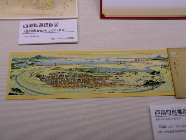 13-111030 「西尾鉄道と岡崎」展 西尾町 鳥瞰図 全体