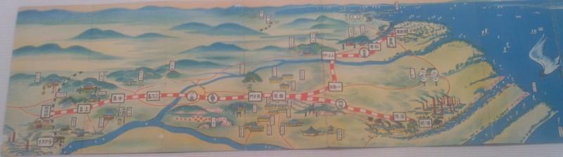 10-111030 「西尾鉄道と岡崎」展 え 路線図