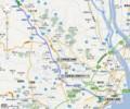 三岐鉄道 路線図 (グーグル マップ)