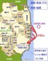 復興 支援 バス 関係 地図 (あきひこ)