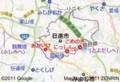 日進市と 名鉄 豊田線の 地図