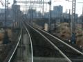 120108 三岐鉄道 (9) 8:40 みぎ カーブして 関西線を のりこえる