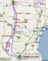 山形新幹線 路線図 (実 キロ数)