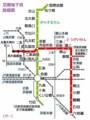 京都地下鉄 路線図 (グー)