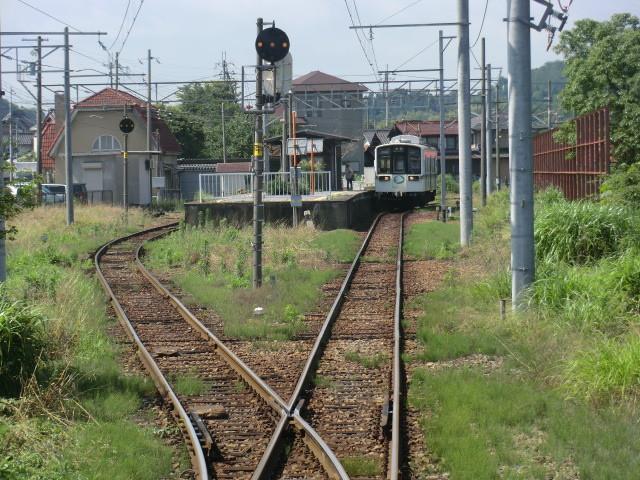 120704 近江鉄道 (10) 9:39 鳥居本 (とりいもと)