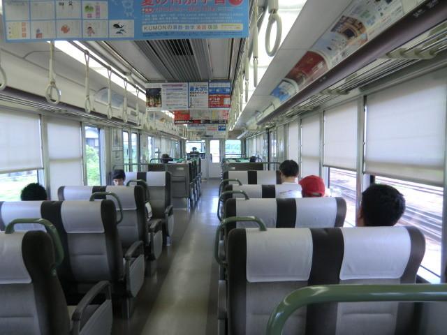 120704 近江鉄道 (17) 11:48 彦根 近江塩津 いき 新快速 車内