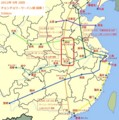 四縦 四横 チョンチョウ-ウーハン間 開業 地図 (ウィキペディア)