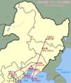 四縦 四横 ペキン 以北 路線図 (ウィキペディア)