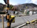 130225 美濃赤坂 (39) 13:47 赤坂宿 谷汲街道 貨物線 ふみきり 西北