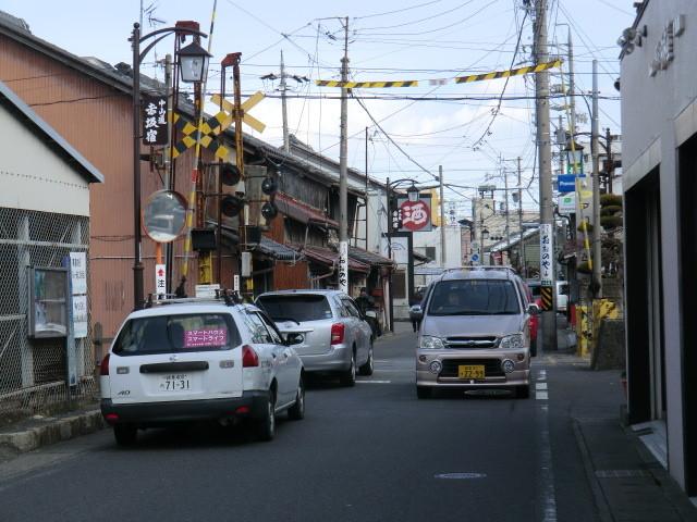 130225 美濃赤坂 (46) 14:01 赤坂宿 中山道 ひがしの 貨物線 ふみきり
