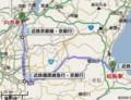 松阪-向島間 路線図