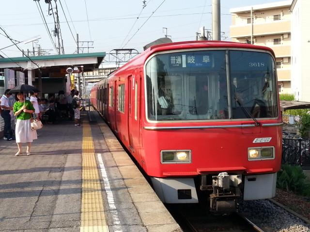 2013-08-02 07:21 碧海古井 名鉄岐阜 いき ふつう