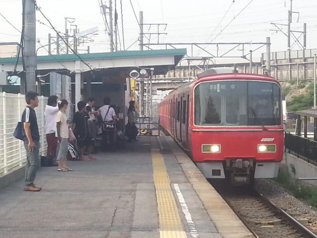 2013-08-09 07:21 碧海古井 名鉄岐阜 いき ふつう